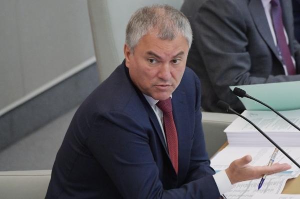 Володин возмутился риторикой руководства Украины о конфликте в Донбассе