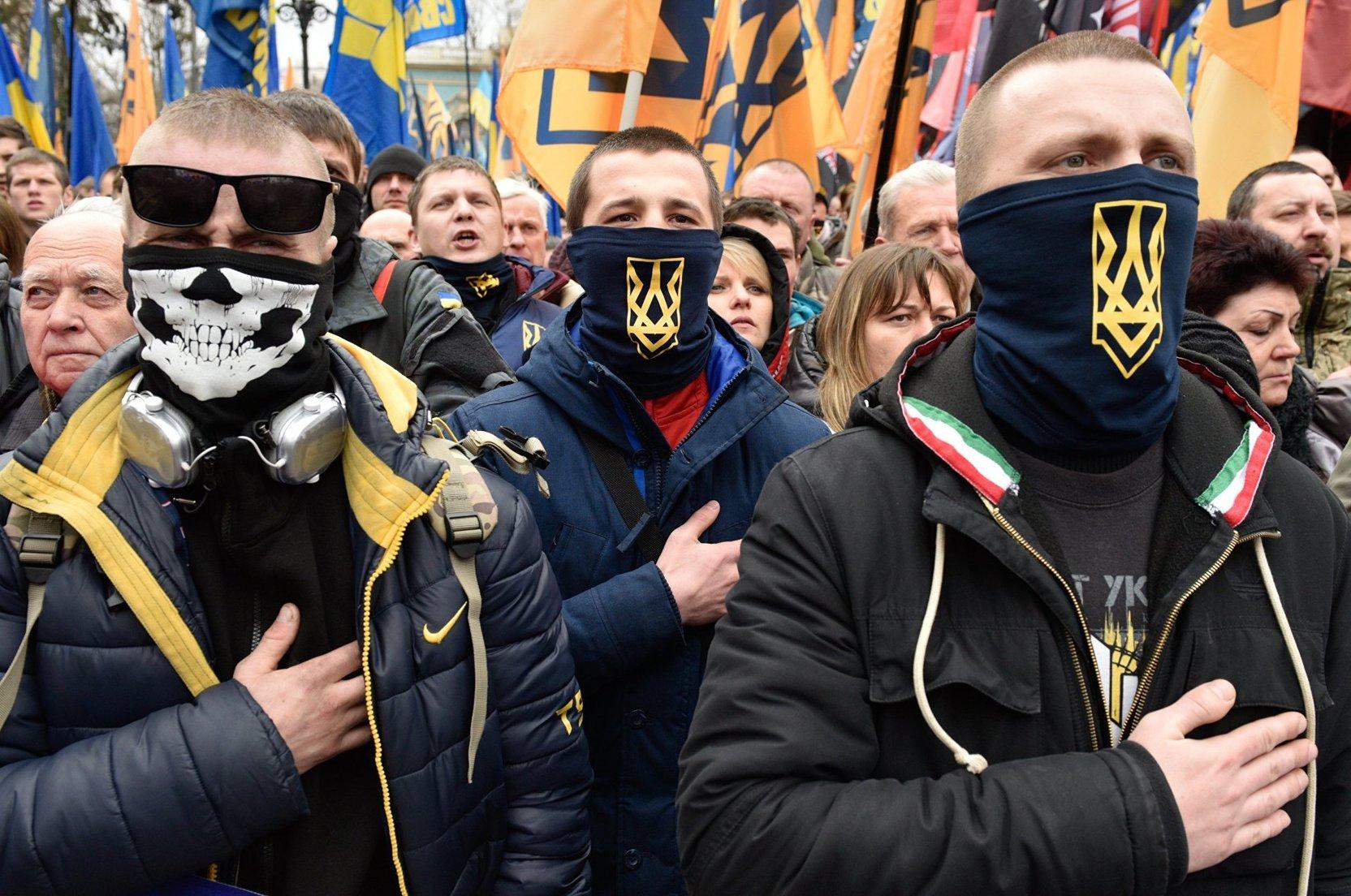 картинки про фашизм на украине арка розария