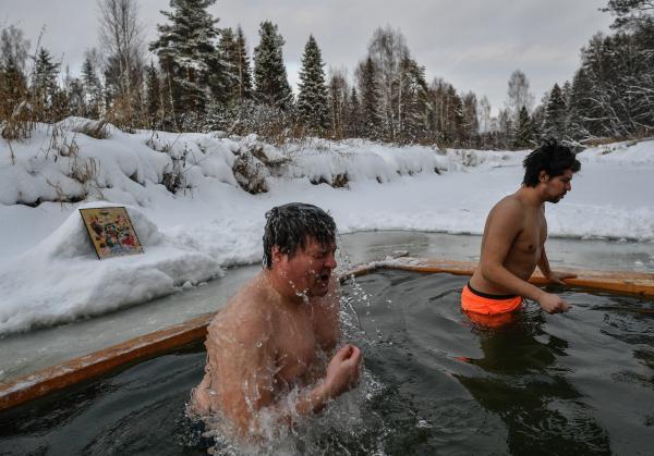 В Подмосковье начались крещенские купания