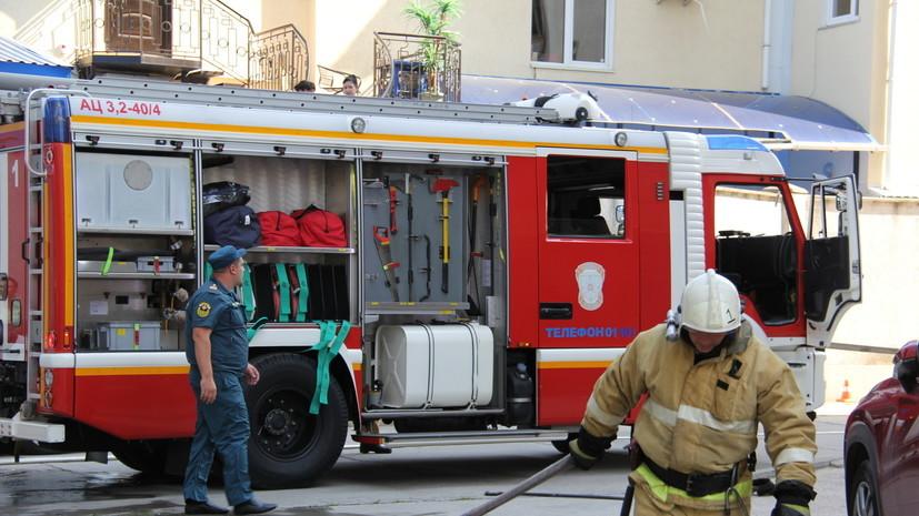 Из горящего дома в Москве спасли пять человек