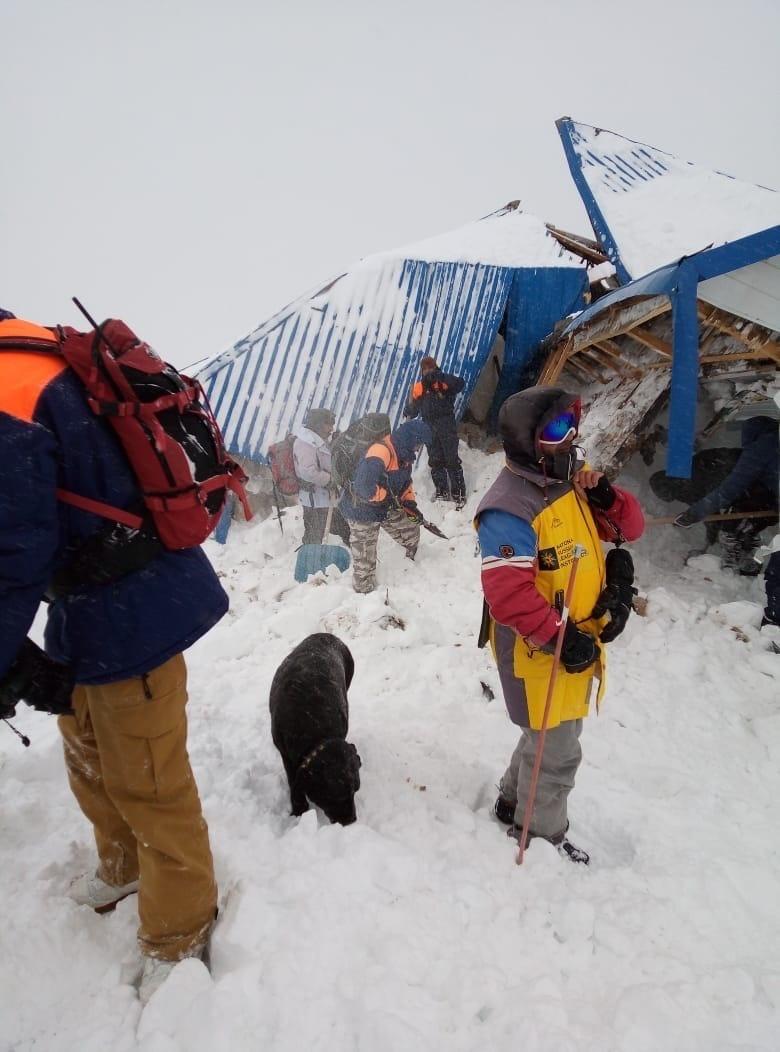 Спасатели начали эвакуацию попавших под лавину детей