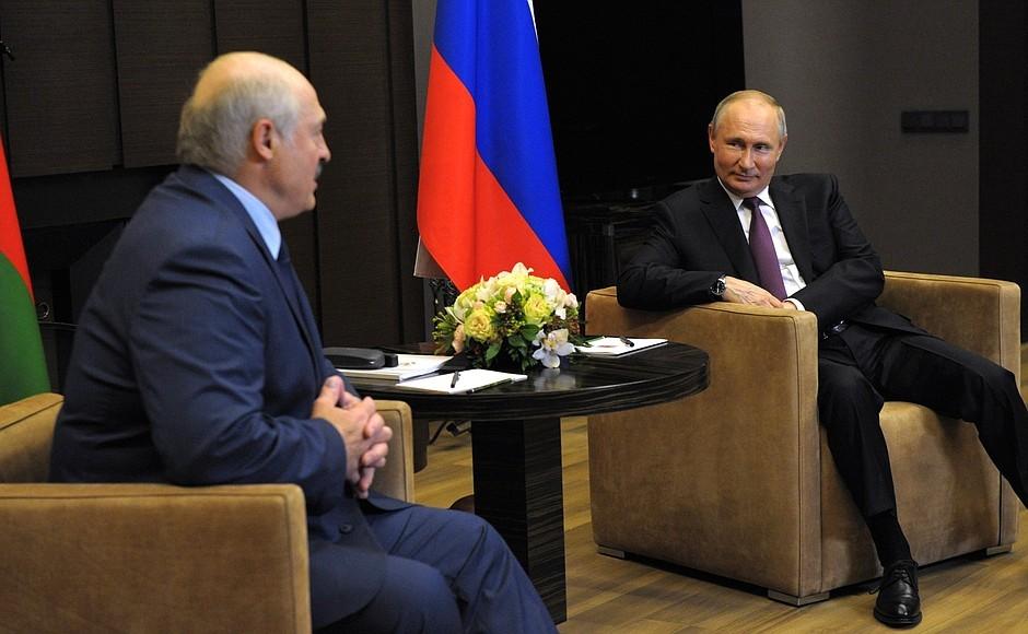 Песков озвучил темы переговоров Путина и Лукашенко