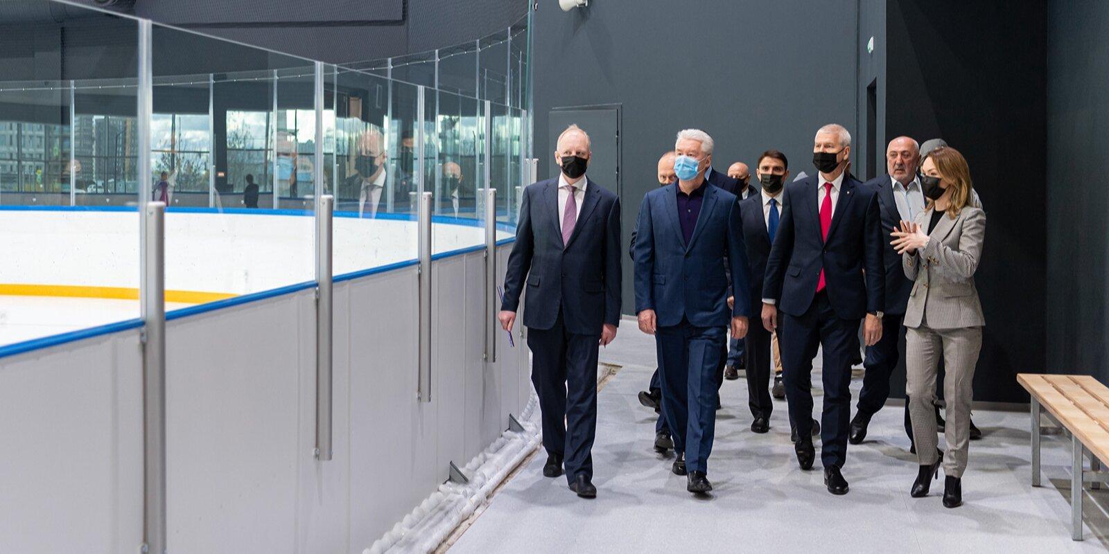 Собянин осмотрел новый спорткомплекс Чкалов Арена в СЗАО